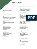 Wallace Stevens - Thirteen Ways of Looking at a Blackbird