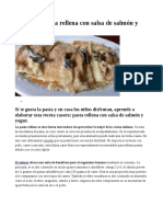 Receta de Pasta Rellena Con Salsa de Salmón y Yogur