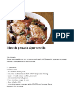 Filete de Pescado Súper Sencillo