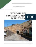Geologia Mina Quiruvilca - 2014