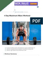 4 Day Maximum Mass Workout _ Muscle & Strength