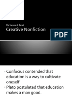Creative Nonfiction Mdterms