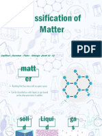 Classification of Matter Repooort
