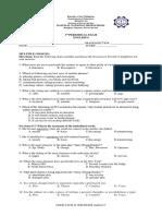 3rd Periodical Exam (g9)