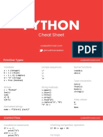 Python 3 Cheat Sheet v3
