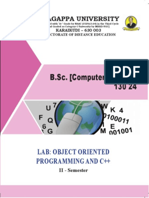 lab object oriented programming and c b sc computer science 130 24 c subroutine scribd