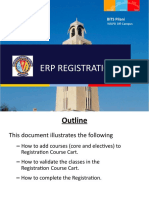 WILP ERP Registration Manual for Second Semester 2018