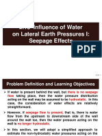 2.15 Influence of Water on Lateral Earth Pressures I - Seepage Effects