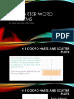 4th quarter word problems-alg a