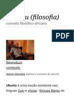 Ubuntu (Filosofia)