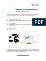 Why you use Electronic Cigarettes instead of traditional Cigarettes?