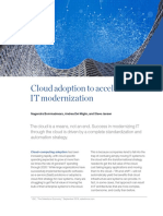 Cloud Adoption to Accelerate IT Modernization(1)