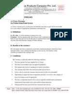 Warranty Certificate (1)