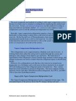 Mechanical Vapour Compression Refrigeration