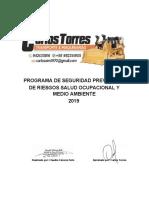 Programa Prevención de Riesgos 2019 Carlos Torres PDF