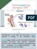 Pomalidomide Pomalid 1mg | Anticancerdrugs | MHP