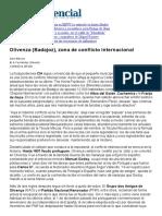 Olivenza (Badajoz), zona de conflicto internacional (El Confidencial, 12-08-14, Portugal)