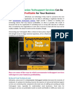 How Sevenmonies Techsupport Services Can Be More Profitable for Your Business
