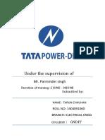 TATA POWER SUMMER TRAINING REPORT