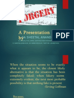 Research Report on Forgery - Sheetal Anand