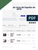 Millonarios Los más ricos de 2019 en España EL MUNDO