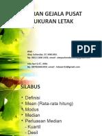 Ukuran Pemusatan Dan Letak Data (1)