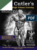 Jay Cutler's high volume training