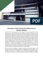 Work System, Votre Partenaire de Confiance Pour Les Véhicules Utilitaires