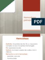Hemostaza Primara PPpppllpppkpl