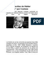 COETZEE Las Maravillas de Walter Benjamin