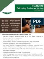 Consumer Behavior Starbucks Case Analysis Group No 04