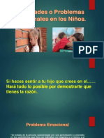 Dificultades o Problemas Emocionales en Los Niños-Presentacion