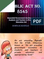 Republic Act No. 8545