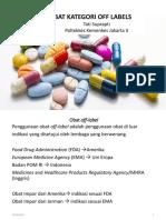 Ppt Obat Off Label 15 Desember 2018