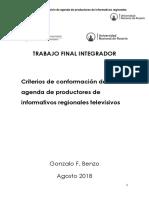 Gonzalo Benzo TFI - Desarrollo