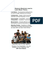 Musicians and Music theory