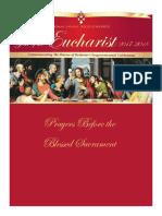 prayer before the Blesses Sacrament