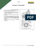 New Holland L 225 Accionamiento de Válvula y Engranajes - Ajuste de Tiempo