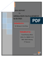operation management in banks