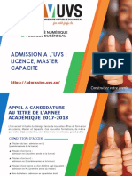 Admission Appel a Candidature 1
