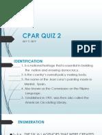CPAR QUIZ 2