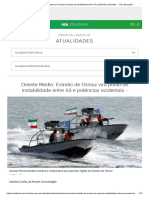 Oriente Médio_ Estreito de Ormuz Vira Ponto de Instabilidade Entre Irã e Potências Ocidentais - - UOL Educação
