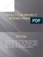 Final Year Project Report Format1