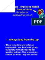 Tips for Improving Safety Culture