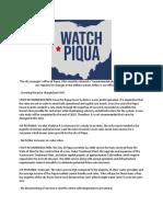 Watch Piqua's Official Response