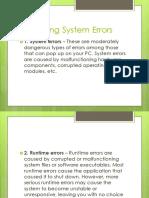 Operating System Errors