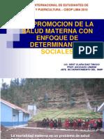 10 Mg Clara Díaz - La Promoción de La Salud Materna Con Enfoque de Determinantes Sociales - Unmsm