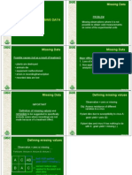 Powerpoint presentation - Missing Data