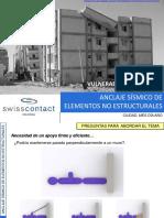 Anclaje sísmico de elementos no estructurales