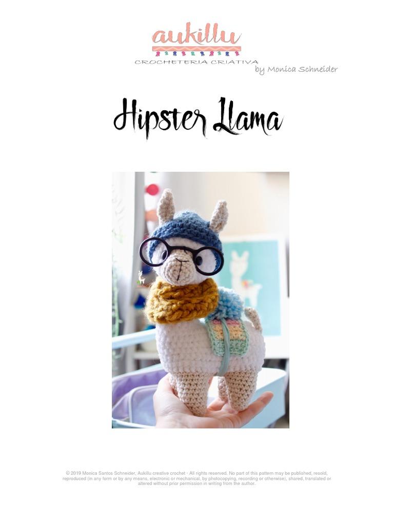 Hipster Llama Crochet Pattern | Etsy | 1024x768